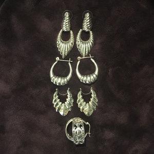 Jewelry - 925 Silver Earring Bundle